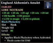 Unglued Alchemist's Amulet
