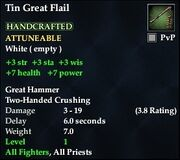 Tin Great Flail