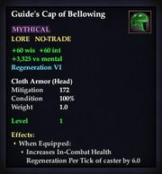 Guide's Cap of Bellowing