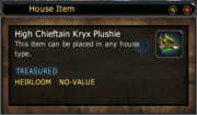 High Chieftain Kryx Plushie