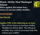 Heroic Ability Mod Warforged Infuser