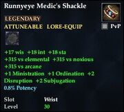 Runnyeye Medic's Shackle