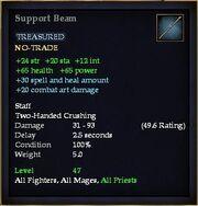 Support Beam