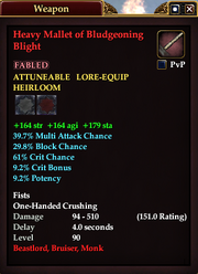 Heavy Mallet of Bludgeoning Blight