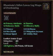 Illuminate's Fallen Leaves Leg Wraps