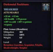 Darkmetal Pauldrons