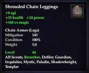 Shrouded Chain Leggings
