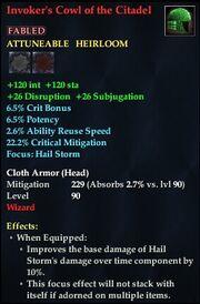 Invoker's Cowl of the Citadel
