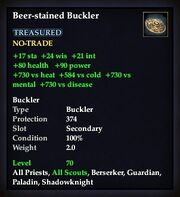 Beer-stained Buckler
