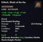 Eitholi, Blade of the Fae