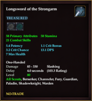 Longsword of the Strongarm