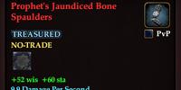 Prophet's Jaundiced Bone Spaulders