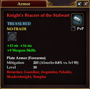 Knight's Bracers of the Stalwart