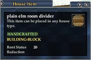 Plain elm room divider