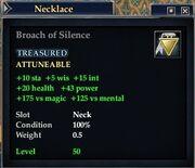 Broach of Silence