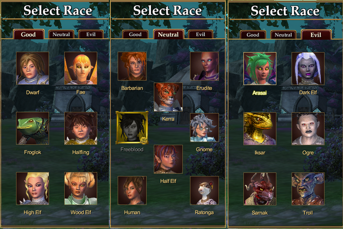 Character Races