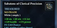Sabatons of Clerical Precision