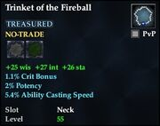 Trinket of the Fireball