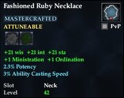 Fashioned Ruby Necklace