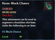 Focus Block Chance