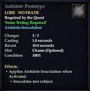 Antidote Prototype