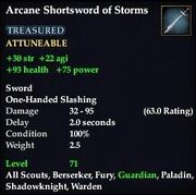 Arcane Shortsword of Storms