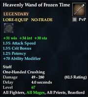 Heavenly Wand of Frozen Time