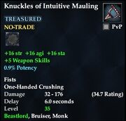 Knuckles of Intuitive Mauling