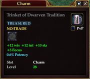 Trinket of Dwarven Tradition