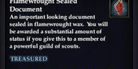 Flamewrought Sealed Document