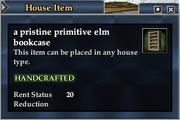 A pristine primitive elm bookcase