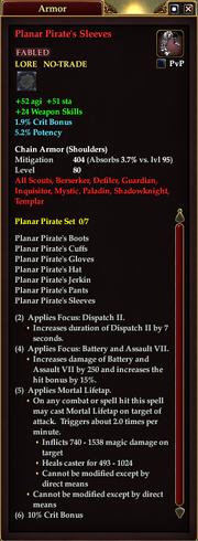 Planar Pirate's Sleeves