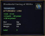 Bloodmetal Earring of Militia