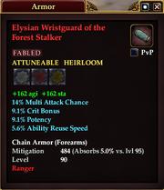 Elysian Wristguard of the Forest Stalker