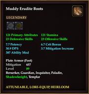 Muddy Erudite Boots