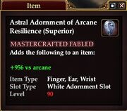 Astral Adornment of Arcane Resilience (Superior)