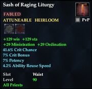 Sash of Raging Liturgy