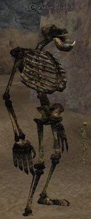 Fallen goliath