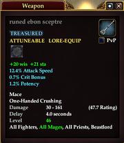 Runed ebon sceptre