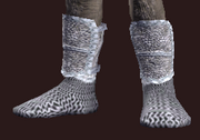 Forged Feyiron Chainmail Boots (Equipped)
