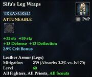 Sifu's Leg Wraps