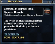 Norrathian Express Box, Qeynos Branch