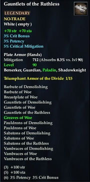 Gauntlets of the Ruthless