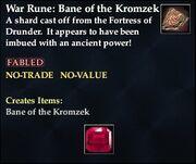 War Rune Bane of the Kromzek