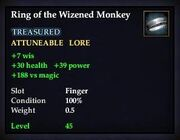 Ring of the Wizened Monkey