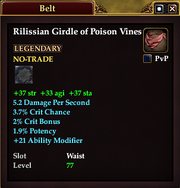 Rilissian Girdle of Poison Vines