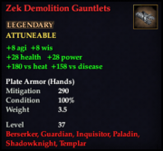 Zek Demolition Gauntlets