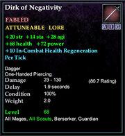 Dirk of Negativity