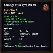 Musings of the Pyre Dancer