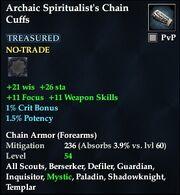 Archaic Spiritualist's Chain Cuffs